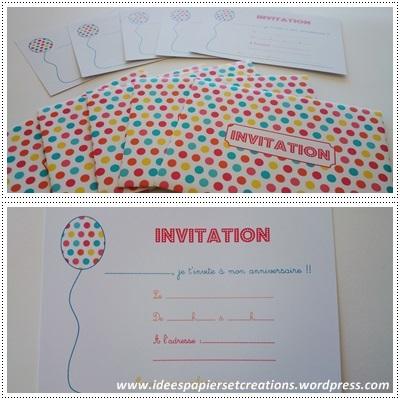 cartes d'invitation petit garçon