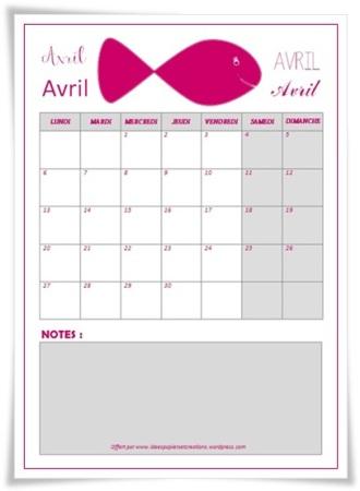 planning avril 2015