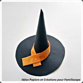 chapeau de sorcière pour décorer Halloween